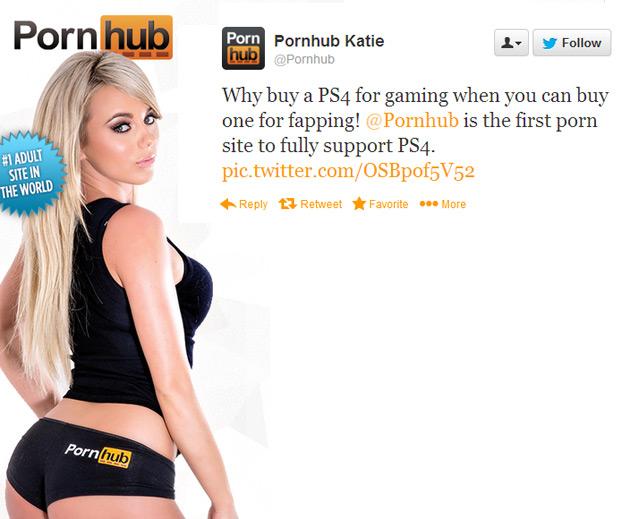 Pornhub Supports PS4